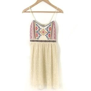 Flying Tomato Cream Lace Embroidered Sundress